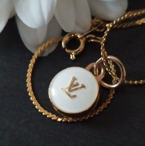 Reworked Louis Vuitton charms necklace